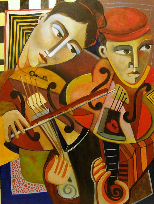 Duo Romantico Painting by Niki Sands