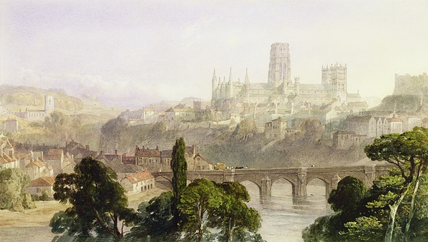 Durham Painting - Durham Cathedral by George Arthur Fripp