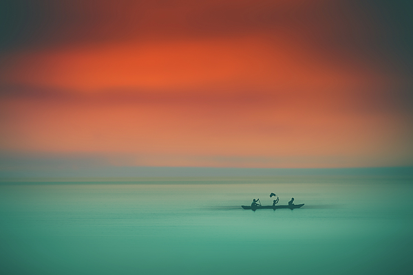 Indonesia Photograph - Dusk On The Lake by Marji Lang