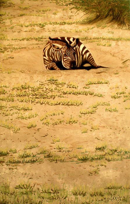 Wildlife Pastel - Dust Bowl by Jan Amiss