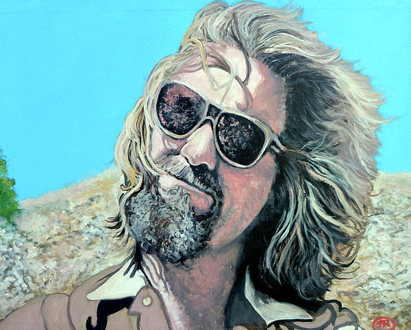 The Dude Painting - Dusted By Donny by Tom Roderick