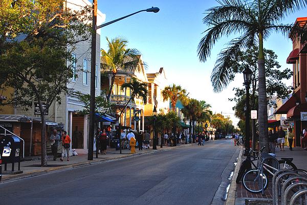 Key West Photograph - Duval Street In Key West by Susanne Van Hulst