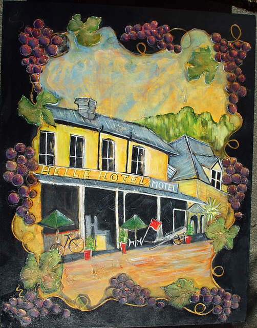 Duvauchelle Hotel Painting by Katie Ross