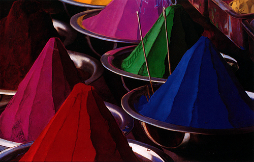 Still Life Painting - Dyes by Toby Boothman