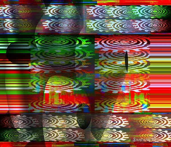 Fania Simon Tapestry - Textile - Dzine The Fredoom To Be by Fania Simon