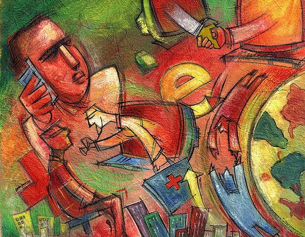 E-world Painting by Shantanu Mitra