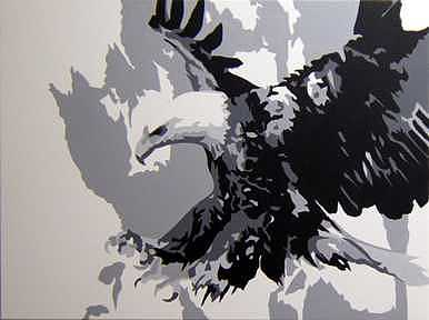 Eagle Painting - Eagle by Michael James  Toomy