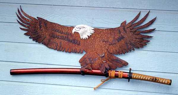 Steel Sculpture - Eagle Sold   by Steve Mudge