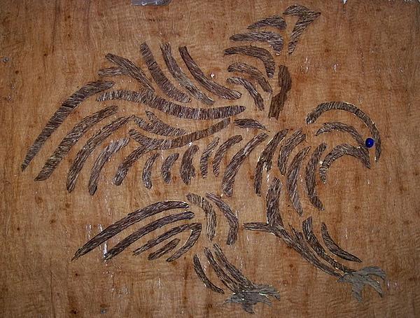 Agar Wood Resinous Relief - Eagle Tribal Of Agar Wood by Joedhi
