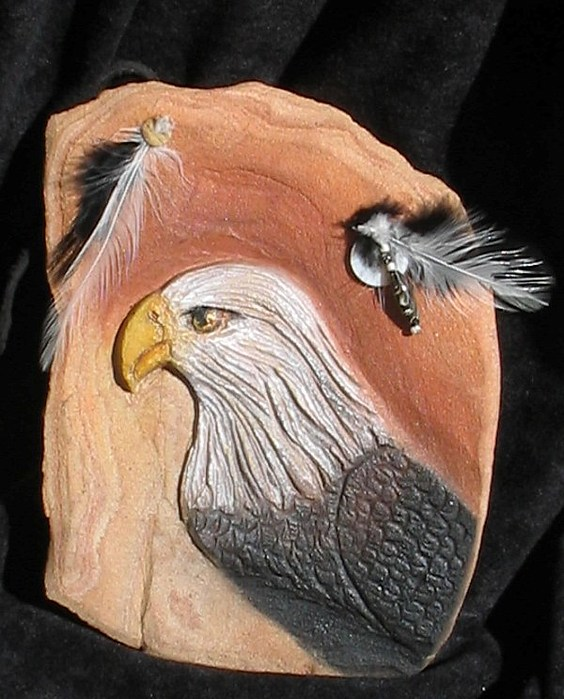 Birds Relief - Eagles Head by Margaret A Clark Price