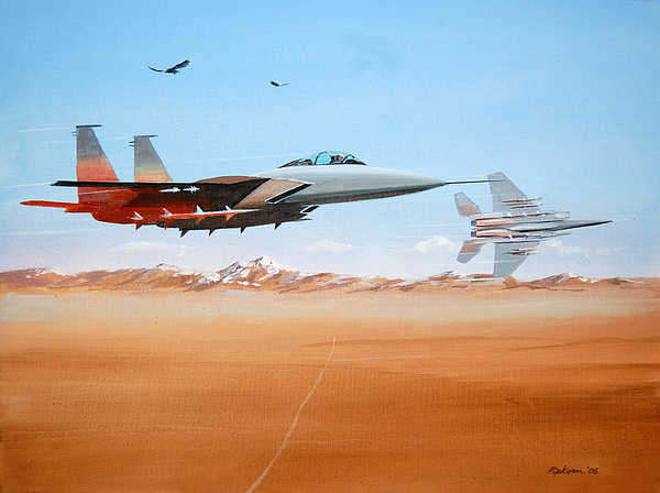 Eagles Painting by Werner Pipkorn