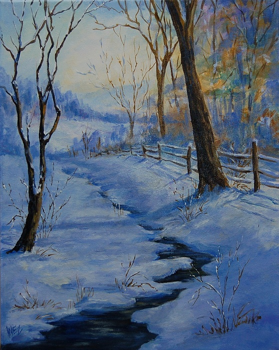 Landscape Painting - Early Morn by Inez Kline