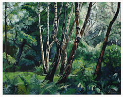 Trees Painting - Early Mornig Light by Paul Birchall