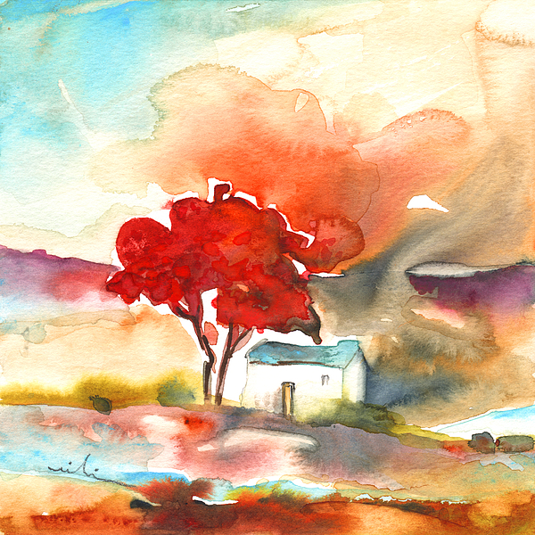 Landscapes Painting - Early Morning 22 by Miki De Goodaboom