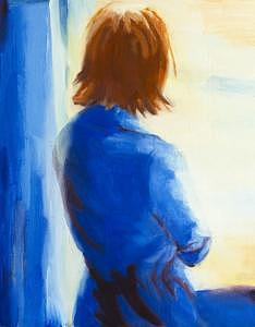 Early Morning Blue Painting by Sheilah Yearwood