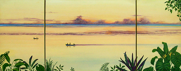 Seascape Painting - Early Morning Fishing by Sharon Ebert