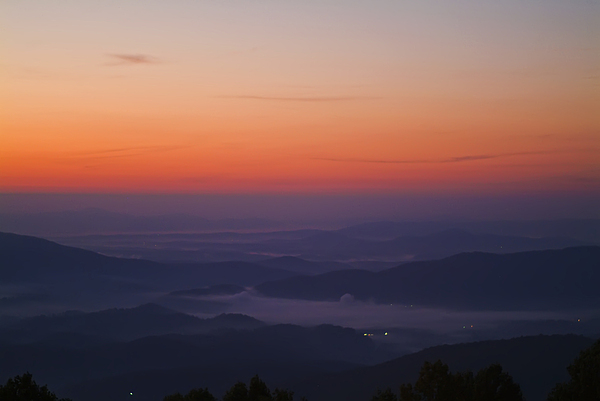 Landscape Photograph - Early Morning Valley Fog by Michael Whitaker