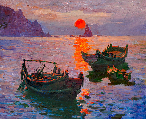 Early Morning Painting by Xichang Sun
