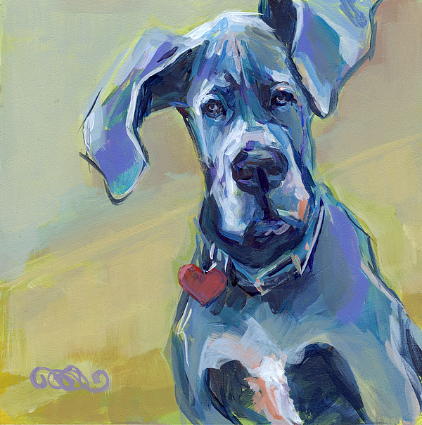 Great Dane Painting - Ears by Kimberly Santini