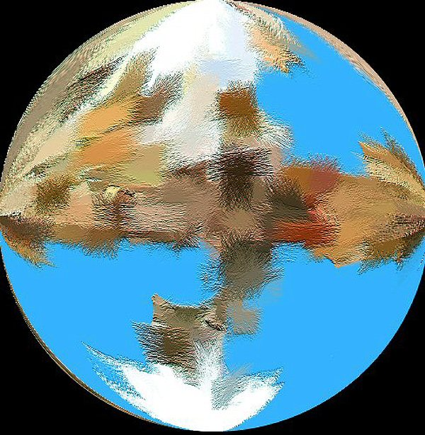 Abstract Painting - Earth 1 Billion Bc by Don Phillips