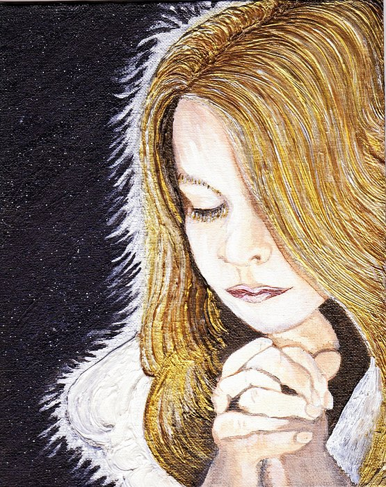 Angel Painting - Earth Angel by Keenya  Woods