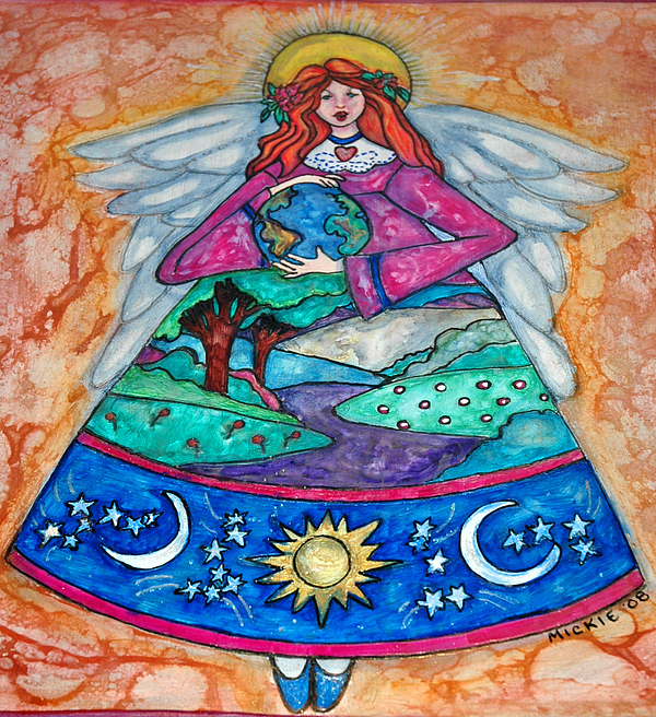 Angel Mixed Media - Earth Angel by Mickie Boothroyd