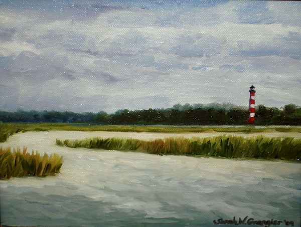 Assateague Painting - East Side View by Sarah Grangier