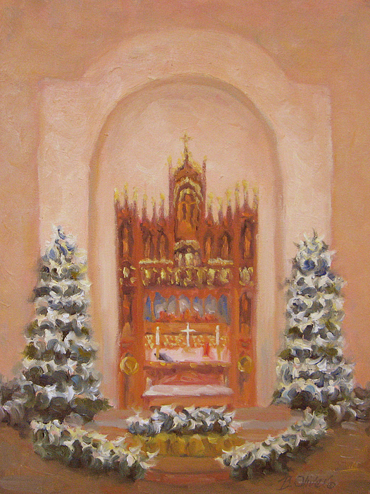 Church Painting - Easter At St. Martins by Bunny Oliver