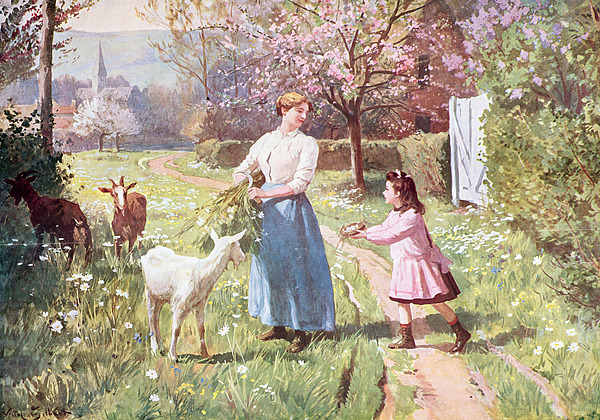 Easter Painting - Easter Eggs In The Country by Victor Gabriel Gilbert