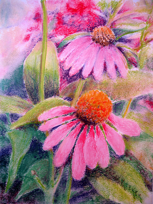 Floral Painting - Echinacea Duo by Bill Meeker