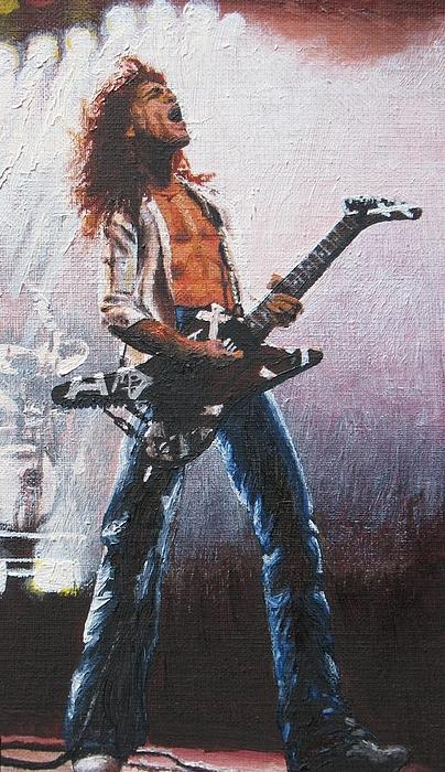 Eddie Painting - Eddie Van Halen by Rick Yanke