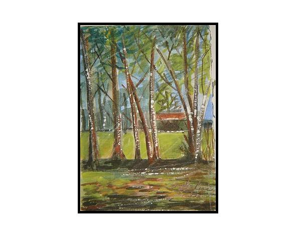 Edge Of Woods Painting by Angela Puglisi