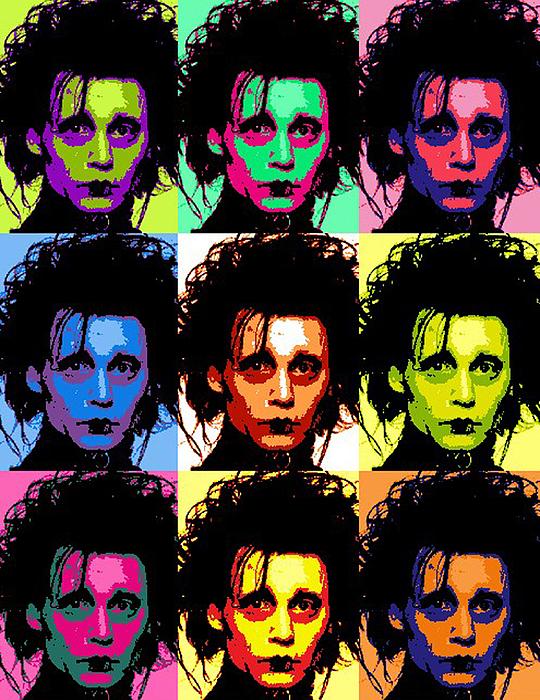 Johnny Depp Digital Art - Edward Scissorhands by Paul Van Scott