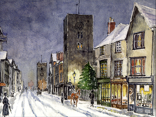 Abbey Painting - Edwardian Oxford by Mike Lester
