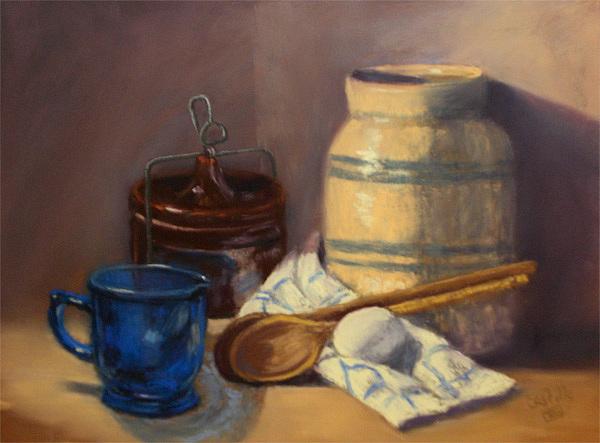 Still Life Painting - Egg n More by Jo Castillo
