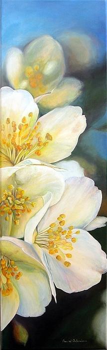 Flower Painting - Eglantine by Muriel Dolemieux