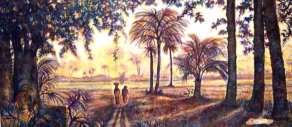 Landscape Painting - Egypt by Norma Boeckler