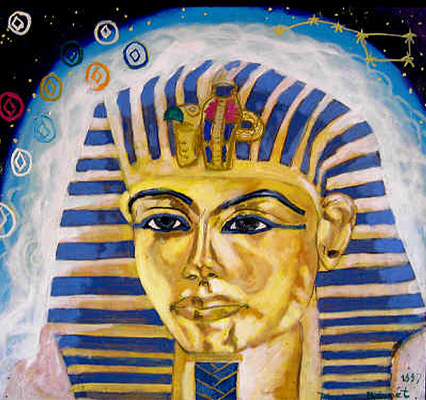 Sprritual Painting - Egyptian Mysteries by Morten Bonnet