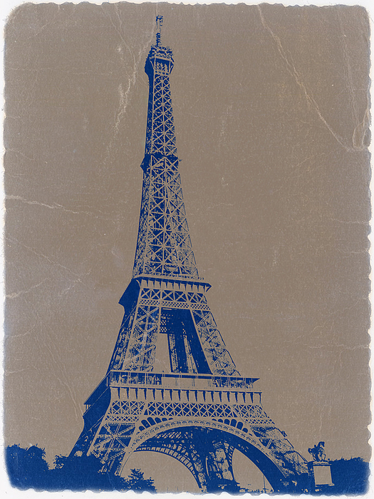 Eiffel Tower Photograph - Eiffel Tower Blue by Naxart Studio