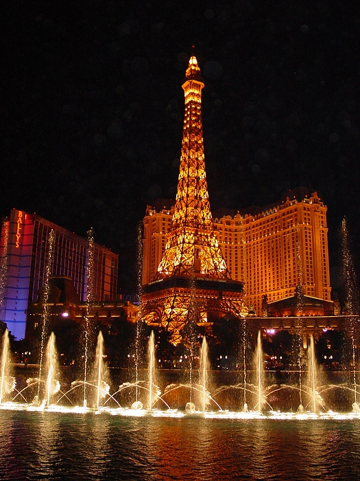 Las Vega Photograph - Eiffle Tower Las Vegas by Greg Brandt