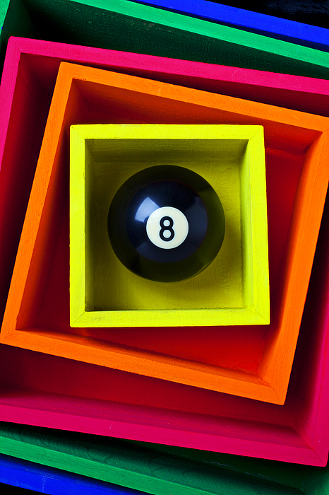 Pool Photograph - Eight Ball In Box by Garry Gay