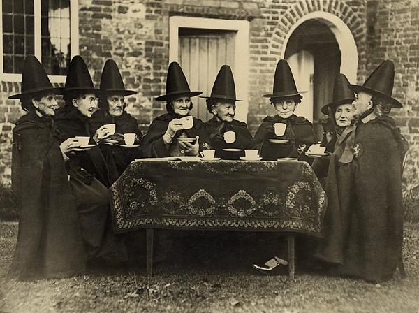 History Photograph - Eight Women In High Hats Having Tea by Everett