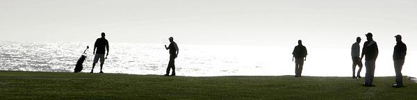 Golf Photograph - Eighth On Pebble Beach by Thomas Toohey Brown