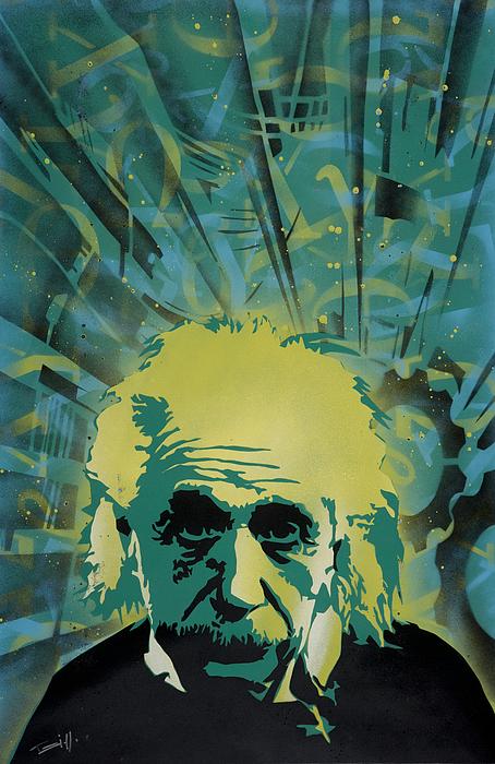 Pop Painting - Einstein by Tai Taeoalii