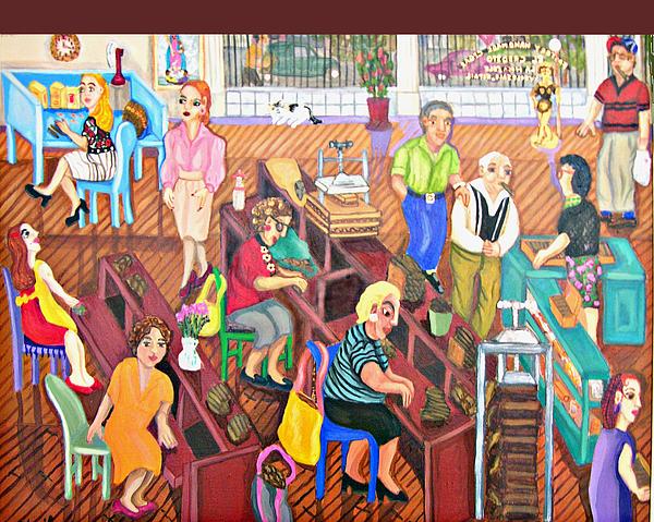 Primitive Painting - El Credito by Maria Alquilar