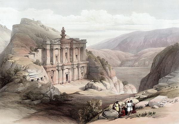 Petra Photograph - El Deir Petra 1839 by Munir Alawi