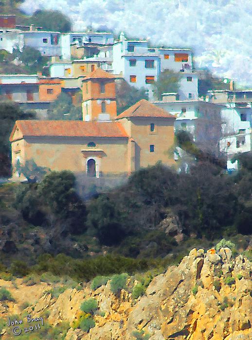 Alpujarra Photograph - El Golco Church by John Bray