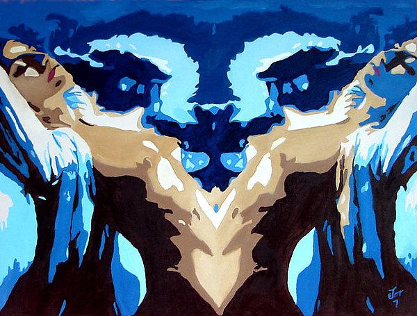 Nude Painting - El Origen by Hector Olvera