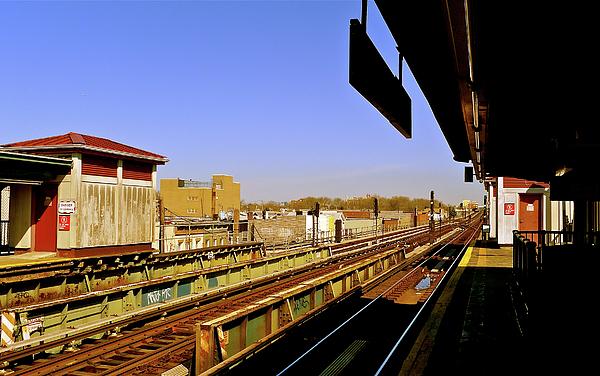 Brooklyn Photograph - El Station Brooklyn by Frank Winters