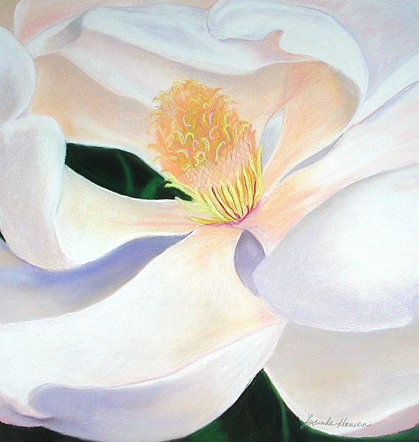White Flower Pastel - Elegance by Lucinda  Hansen